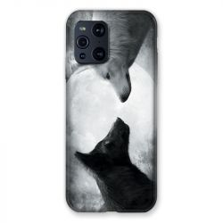 Coque Pour Oppo Find X3 Pro Loup Duo