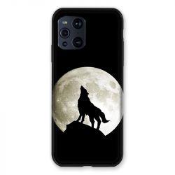 Coque Pour Oppo Find X3 Pro Loup Noir