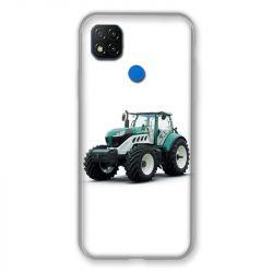 Coque Pour Xiaomi Redmi 9C Agriculture Tracteur Blanc