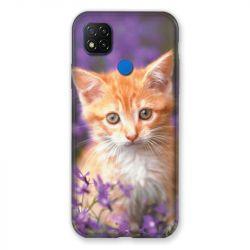 Coque Pour Xiaomi Redmi 9C Chat Violet