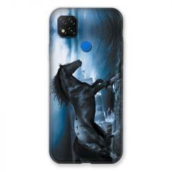 Coque Pour Xiaomi Redmi 9C Cheval Noir