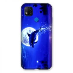 Coque Pour Xiaomi Redmi 9C Dauphin Lune
