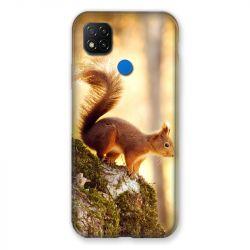 Coque Pour Xiaomi Redmi 9C Ecureuil Bois