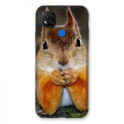 Coque Pour Xiaomi Redmi 9C Ecureuil Face