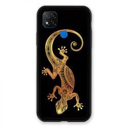 Coque Pour Xiaomi Redmi 9C Animaux Maori Lezard Noir
