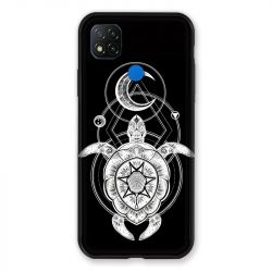 Coque Pour Xiaomi Redmi 9C Animaux Maori Tortue Noir