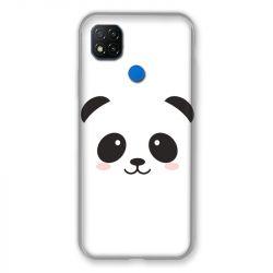 Coque Pour Xiaomi Redmi 9C Panda Blanc