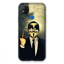 Coque Pour Xiaomi Redmi 9C Anonymous Doigt