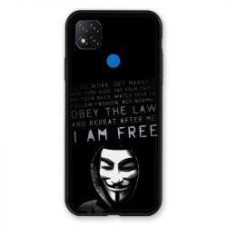 Coque Pour Xiaomi Redmi 9C Anonymous I am free
