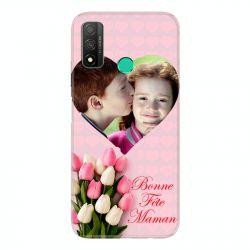 Coque Pour Huawei P Smart (2020) Personnalisee Fete Des Meres Coeurs Roses