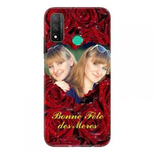 Coque Pour Huawei P Smart (2020) Personnalisee Fete Des Meres Roses Rouges