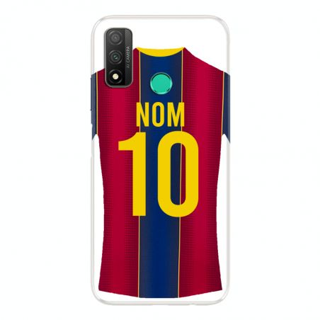 Coque Pour Huawei P Smart (2020) Personnalisee Maillot Football FC Barcelone