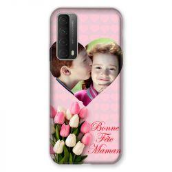 Coque Pour Huawei P Smart (2021) Personnalisee Fete Des Meres Coeurs Roses