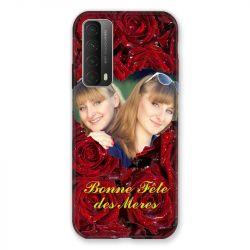 Coque Pour Huawei P Smart (2021) Personnalisee Fete Des Meres Roses Rouges