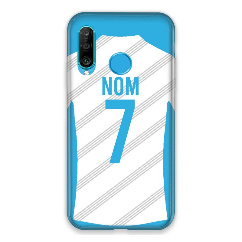 Coque Pour Huawei P30 Lite Personnalisee Maillot Football Olympique Marseille Domicile