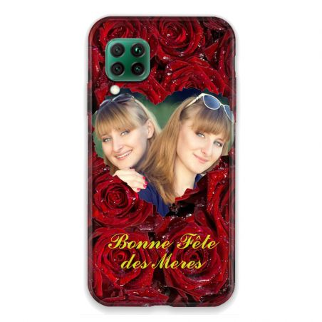 Coque Pour Huawei P40 Lite 4G Personnalisee Fete Des Meres Roses Rouges