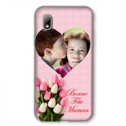 Coque Pour Huawei Y5 (2019) Personnalisee Fete Des Meres Coeurs Roses