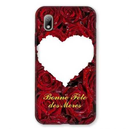Coque Pour Huawei Y5 (2019) Personnalisee Fete Des Meres Roses Rouges