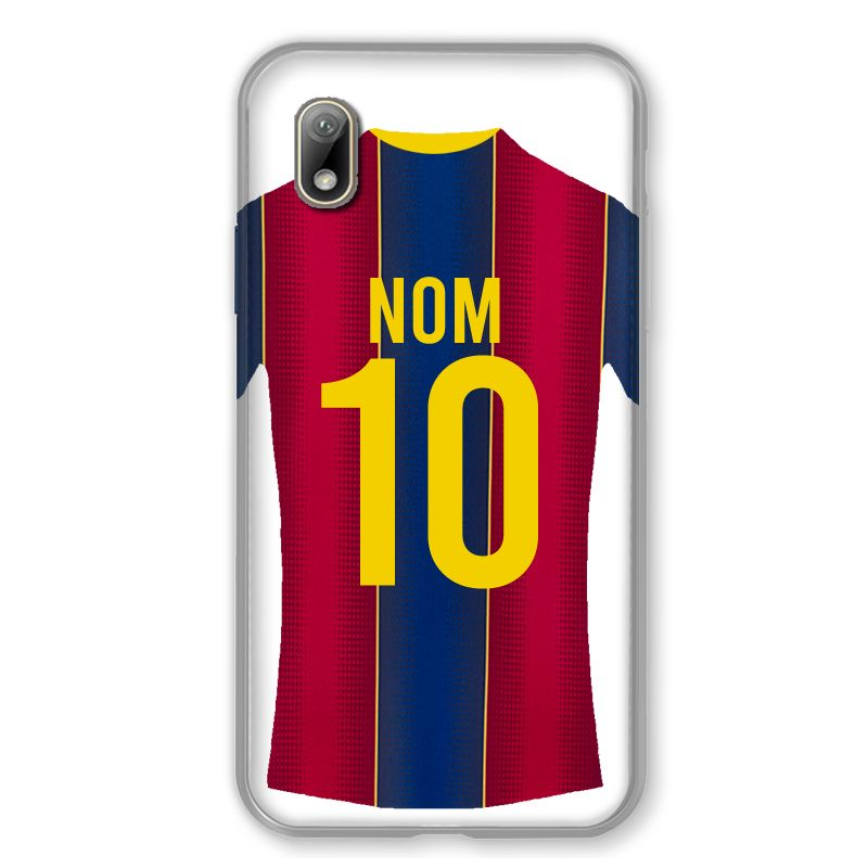 Coque Pour Huawei Y5 (2019) Personnalisee Maillot Football FC Barcelone