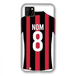 Coque Pour Huawei Y5P Personnalisee Maillot Football Milan AC