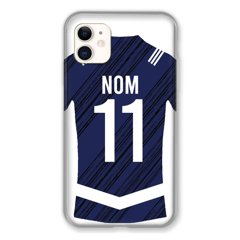Coque Pour Iphone 11 (6.1) Personnalisee Maillot Footbal Girondins Bordeaux