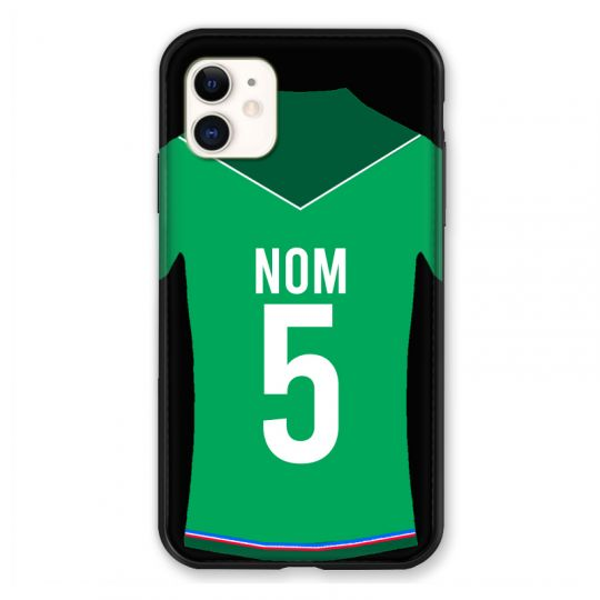 Coque Pour Iphone 11 (6.1) Personnalisee Maillot Football AS Saint Etienne