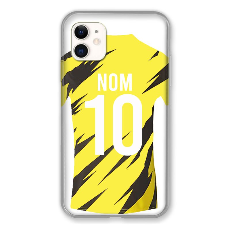 Coque Pour Iphone 11 (6.1) Personnalisee Maillot Football Borussia Dortmund