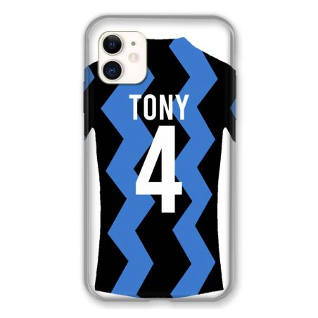 Coque Pour Iphone 11 (6.1) Personnalisee Maillot Football FC Inter Milan