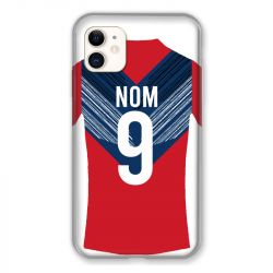 Coque Pour Iphone 11 (6.1) Personnalisee Maillot Football LOSC Lille