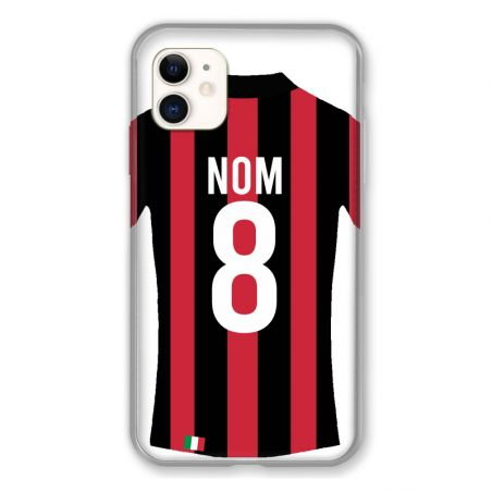 Coque Pour Iphone 11 (6.1) Personnalisee Maillot Football Milan AC