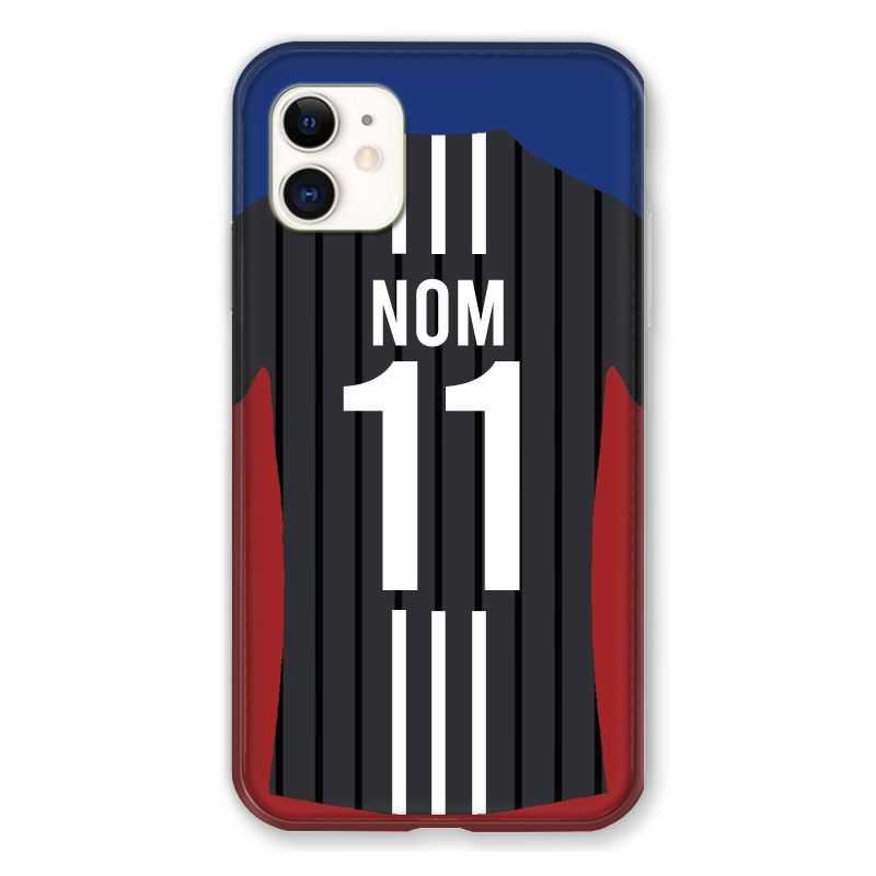 Coque Pour Iphone 11 (6.1) Personnalisee Maillot Football Olympique Lyonnais Exterieur