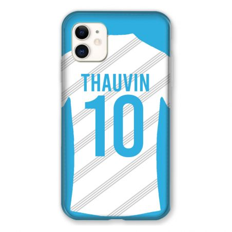 Coque Pour Iphone 11 (6.1) Personnalisee Maillot Football Olympique Marseille Domicile