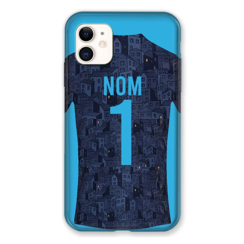 Coque Pour Iphone 11 (6.1) Personnalisee Maillot Football Olympique Marseille Exterieur
