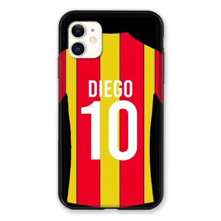 Coque Pour Iphone 11 (6.1) Personnalisee Maillot Football RC Lens