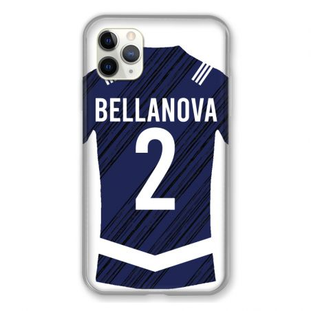 Coque Pour Iphone 11 Pro Max (6,5) Personnalisee Maillot Footbal Girondins Bordeaux