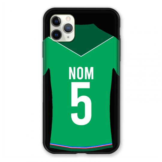 Coque Pour Iphone 11 Pro Max (6,5) Personnalisee Maillot Football AS Saint Etienne