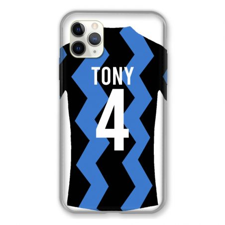 Coque Pour Iphone 11 Pro Max (6,5) Personnalisee Maillot Football FC Inter Milan