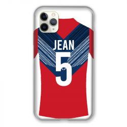 Coque Pour Iphone 11 Pro Max (6,5) Personnalisee Maillot Football LOSC Lille