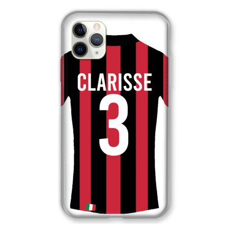 Coque Pour Iphone 11 Pro Max (6,5) Personnalisee Maillot Football Milan AC