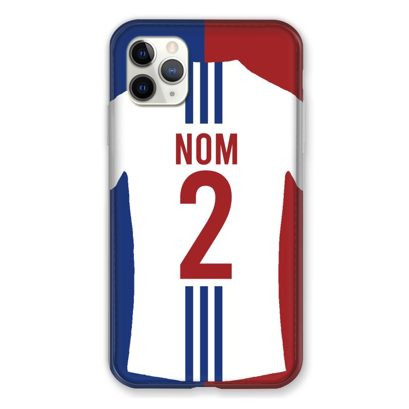 Coque Pour Iphone 11 Pro Max (6,5) Personnalisee Maillot Football Olympique Lyonnais Domicile