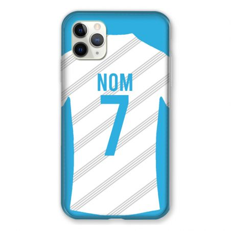 Coque Pour Iphone 11 Pro Max (6,5) Personnalisee Maillot Football Olympique Marseille Domicile