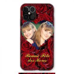 Coque Pour Iphone 12 / 12 Pro (6,1) Personnalisee Fete Des Meres Roses Rouges