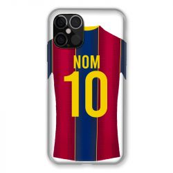 Coque Pour Iphone 12 / 12 Pro (6,1) Personnalisee Maillot Football FC Barcelone