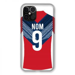Coque Pour Iphone 12 / 12 Pro (6,1) Personnalisee Maillot Football LOSC Lille
