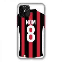 Coque Pour Iphone 12 / 12 Pro (6,1) Personnalisee Maillot Football Milan AC