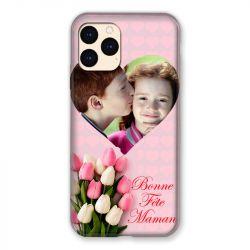 Coque Pour Iphone 12 Mini (5.4) Personnalisee Fete Des Meres Coeurs Roses
