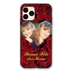 Coque Pour Iphone 12 Mini (5.4) Personnalisee Fete Des Meres Roses Rouges