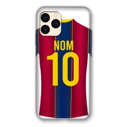 Coque Pour Iphone 12 Mini (5.4) Personnalisee Maillot Football FC Barcelone