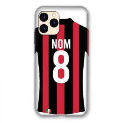 Coque Pour Iphone 12 Mini (5.4) Personnalisee Maillot Football Milan AC