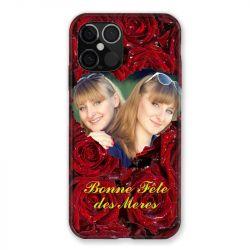 Coque Pour Iphone 12 Pro Max (6.7) Personnalisee Fete Des Meres Roses Rouges